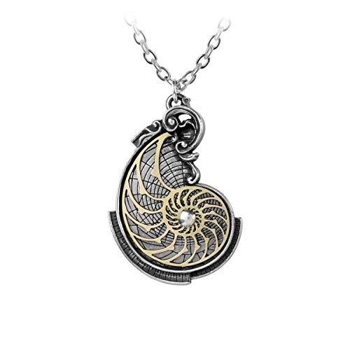 Gothic Nautilus Anhänger Renaissance Talisman Amulett Halskette