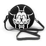 RGLHM Mickey Mouse Damen Handtasche Crossbody Schultertasche Leder Tasche Casual Mini Schultertasche