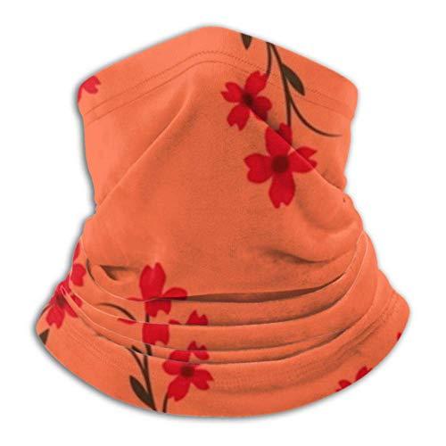 Calentador de cuello de vellón, bufanda multifuncional de estilo japonés de planta de rama, una máscara o sombrero de cara completa, polaina de cuello, gorra de cuello, máscara de esquí, media máscara, máscara facial,