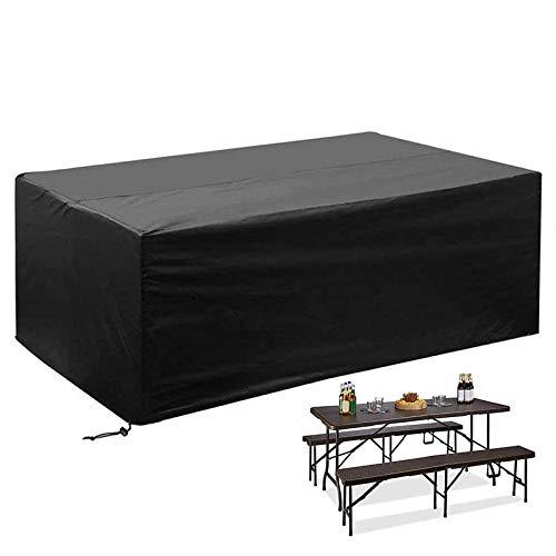 Funda de Muebles de Jardín 180*120*74CM Funda para Mesa Silla Jardín Cloth para Muebles de jardín Funda Protectora Muebles Copertura Impermeable para Mesas Rectangular Exterior Anti-UV Protección