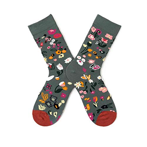 SJHFG - Calcetines de pintura al óleo retro creativos y elegantes patrones de impresión de ropa accesorios de decoración de regalo para mujeres hombres, estilo 3