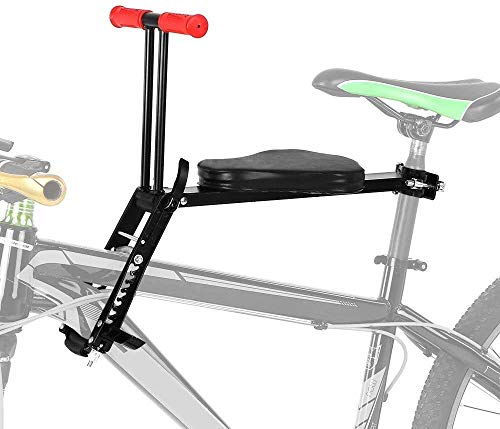 Lowest Prices! Bicycle Seat for Child Front Mount,Foldable Ultralight Portable Child Bicycle Seat,Ad...