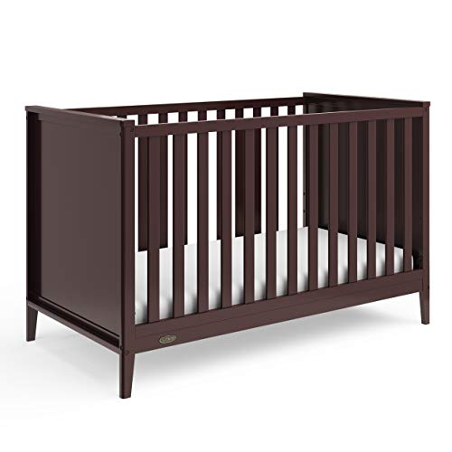 Graco Melbourne 3-in-1 Convertible Crib - Fits Standard Mattress, Converts to Toddler & Daybed, Non-Toxic Finish, Expert Tested for Safer Sleep, Espresso