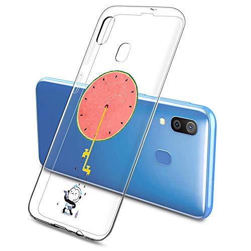 Oihxse Funda Samsung Galaxy A6S, Ultra Delgado Transparente TPU Silicona Case Suave Claro Elegante Creativa Patrón Bumper Carcasa Anti-Arañazos Anti-Choque Protección Caso Cover (A3)