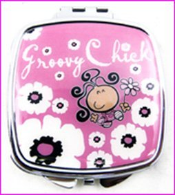 Groovy Chick maquillage Compact Miroir