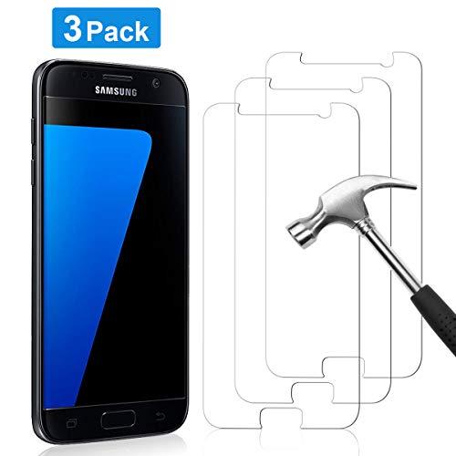 YIEASY 3 Stück Panzerglas Schutzfolie für Samsung Galaxy S7 Panzerglasfolie, 9H Härte Glas Folie, Anti-Kratzer/Bläschen/Fingerabdruck Ultra-dünn HD Klar 2.5D Rand Displayschutzfolie für Samsung S7