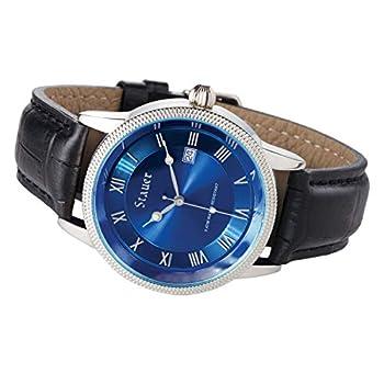 Stauer Men s Urban Blue Watch with Black Leather Strap
