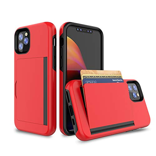iPhone 11 Pro Ultra-Thin Shockproof Case with Credit Card Slot Protective Wallet with ID Holder