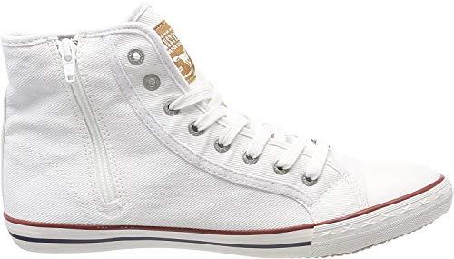 Mustang Herren 4058-504-1 Hohe Sneaker, Weiß (Weiß 1), 44 EU