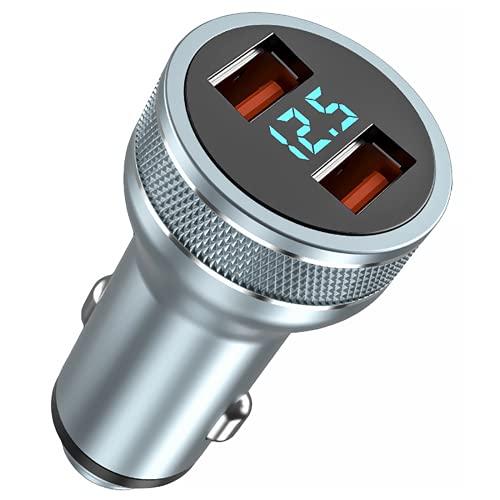 Cekell USB C Cargador De Coche, Compatible Con IPhone 12/12 Mini / 12 Pro / 12 Pro Max, Un Cargador De Coche USB C De 36 W Con Puertos Duales Con Adaptador De Carga Rápida