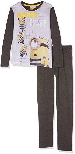les minions 161943 Conjuntos de Pijama, Gris/Anthacite, 6 años para Niños