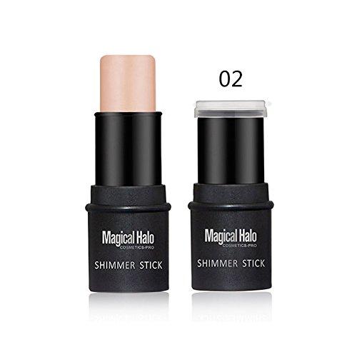 Bâton de surligneur, bâton de Fondation de maquillage de contour d'ombre de poudre de surligneur(2)