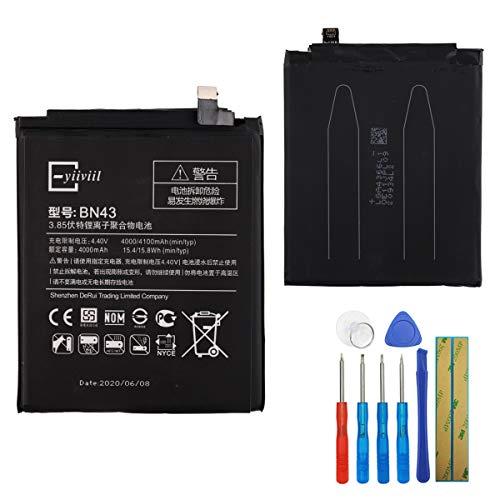 E-yiiviil Batería de repuesto BN43 compatible con Xiaomi Redmi Note 4X con herramientas.