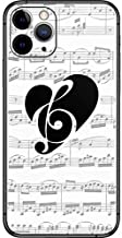Skinit Decal Phone Skin for iPhone 11 Pro - Officially Licensed Originally Designed BW Musical Notes Design
