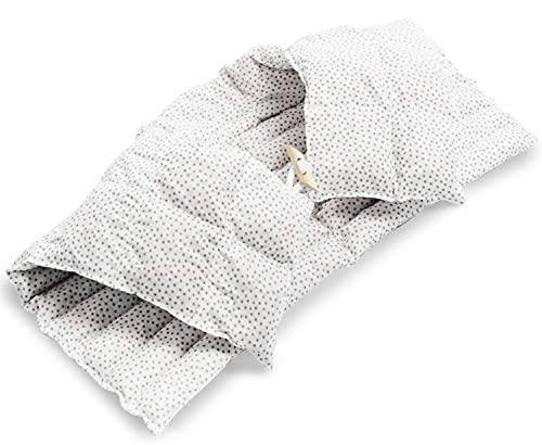 Amilian Almohada cervical con parte trasera y cuello alto para el cuello, espalda y huesos de cereza, cojín térmico cervical, cojín cervical, cojín térmico, almohada de calor, tupar gris