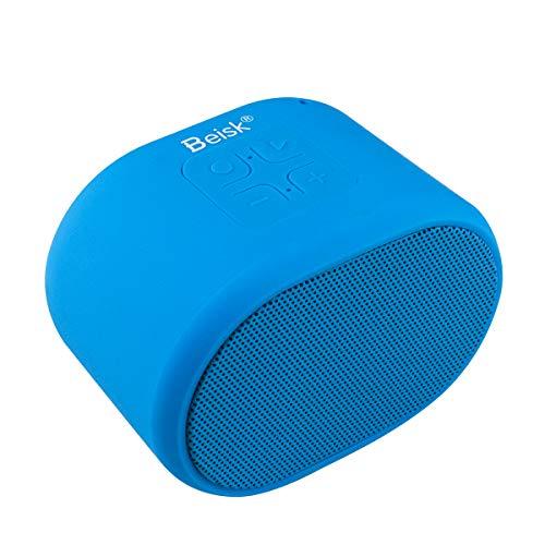 Beisk, Mini Altavoz Bluetooth Portátil, con 8-10 Horas de Reproducción, Sonido Estéreo 360º, Radio FM, TWS, Ideal para Camping, Playa, Viaje, Fiesta, Hogar, Color Azul