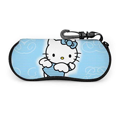 Hello Kitty Cartoon Anime Gafas caso caso ultra ligero portátil viaje multifunción cremallera gafas caso