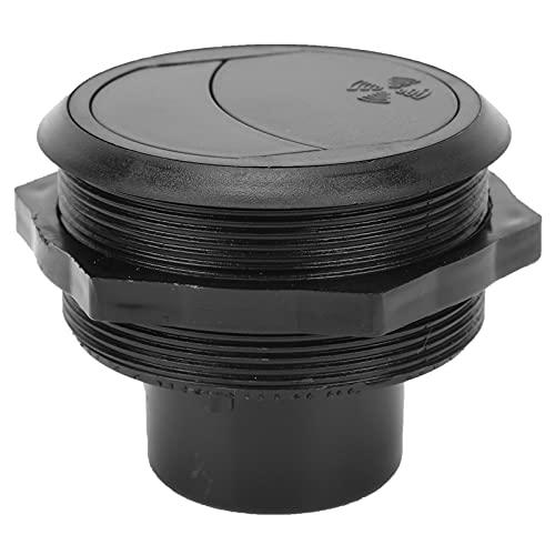 Salida de aire acondicionado , Yctze 82/75 / 17mm Salida de aire acondicionado tipo corto redondo universal para coche eléctrico RV (negro)