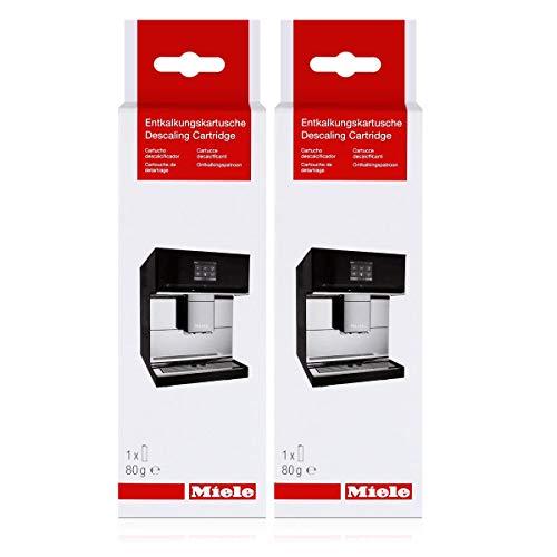 Miele CM 7500 Entkalkungskartusche 80g - Zur automatischen Entkalkung von Miele Kaffeevollautomaten (2er Pack)