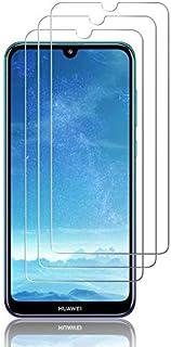 J&D kompatibel med 3-pack Huawei Y7 2019/Y7 Pro 2019/Y7 Prime 2019 glasskärmskydd, [härdat glas] [Inte full täckning] Ball...
