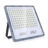 Luz de Exterior LED, 100W Floodlight Blanco Frío 6500K Ultrafino...