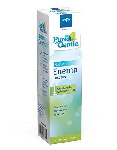 Medline CUR095005B Pure and Gentle Disposable Saline Enema, 4.5 oz Bottles, Bulk (Pack of 24)