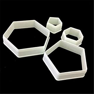Football Pentagon Hexagon Fondant Biscuits Cookie Cutter Decorating Sugarcraft Gum Paste Tools Pastry Cookie Molds