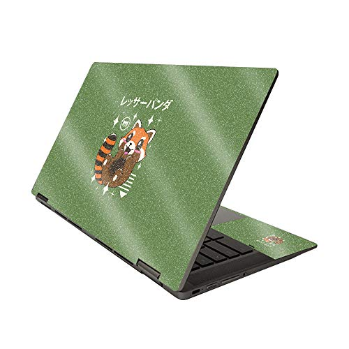 MightySkins Glossy Glitter Skin for HP Chromebook x360 14' (2020) - Red Panda Kawaii   Protective, Durable High-Gloss Glitter Finish   Easy to Apply, Remove, and Change Styles   Made in The USA