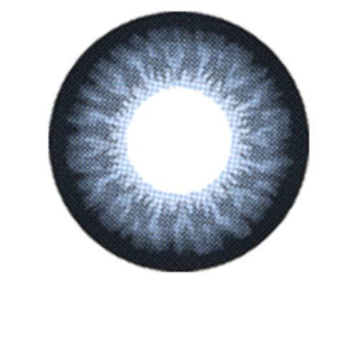Matlens – EOS Farbige Kontaktlinsen ohne Stärke blau blue Big eyes G-209 2 Linsen 1 Kontaktlinsenbehälter 1 Pflegemittel 50ml