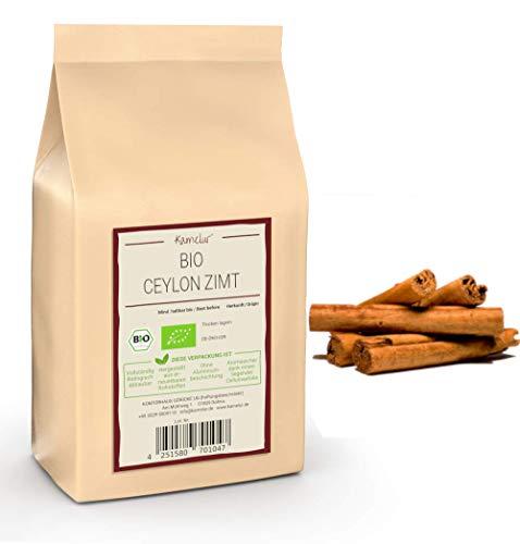 250g BIO Ceylon Zimt Stangen ganz - ganze Ceylon Zimtstangen (ca. 50 Stk.), sehr geringer Cumarin-Gehalt und ohne Zusätze – cinnamon sticks in biologisch abbaubarer Verpackung