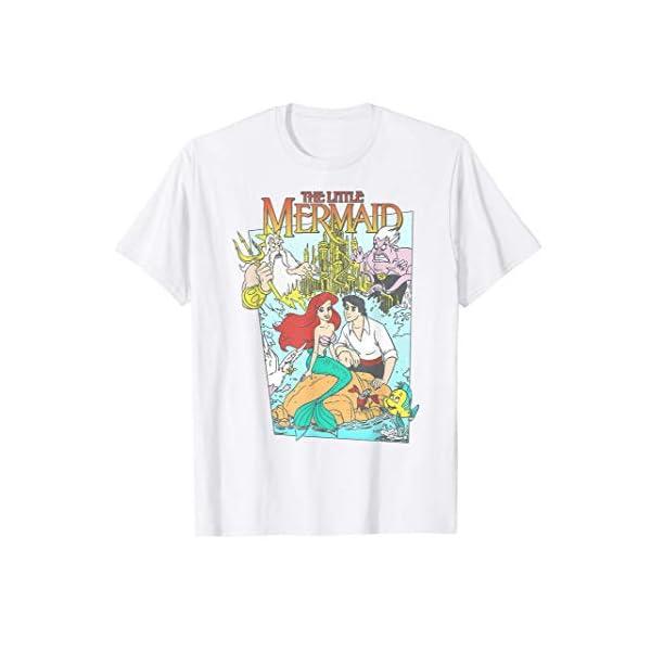 Disney The Little Mermaid Vintage Cover Graphic T-Shirt T-Shirt