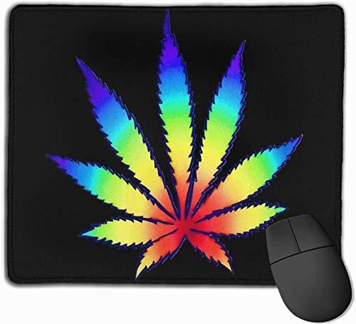 Rainbow Dope Leaf Gaming Mouse Pad Niet-slip Rubber Mousepad voor Computers Desktops laptop Mouse Mat 9.8