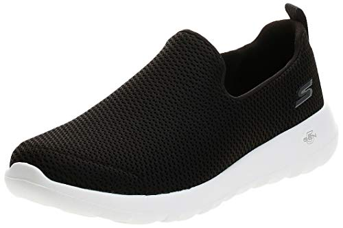 Skechers Mens Go Walk Max-Athletic Air Mesh Slip on Walkking Shoe Sneaker,Black/White,11.5 M US