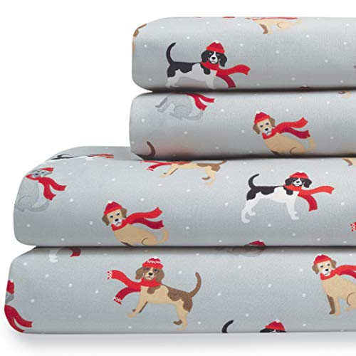 Elite Home Products Extra-Soft Microfiber Holiday Print Sheet Set