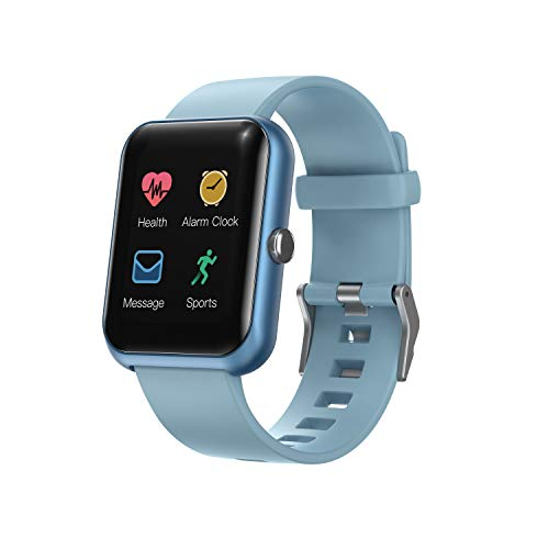 Amaxos Ax20 Smartwatch Fitness Tracker for iOS Android Bluetooth Smart Watches Sports Watches Heart Rate Monitor Blood Pressure/Blau