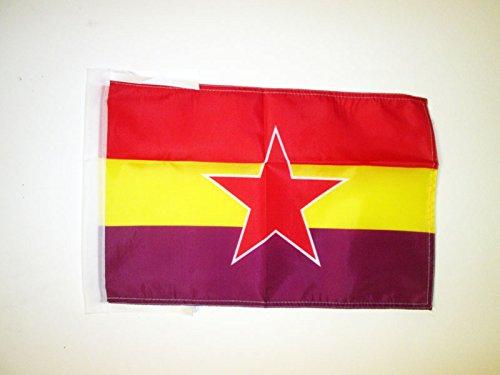 AZ FLAG Bandera ESPAÑA Republicana Estrella del EJÉRCITO Popular 45x30cm - BANDERINA DE LA Republica ESPAÑOLA 30 x 45 cm cordeles: Amazon.es: Hogar