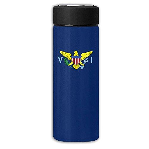 Flag Of US Virgin Islands Vacuum Cup Stainless Steel Frosted Travel Mug With Tea Leaf Filter,Commercial Beverage Bottle