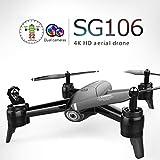 Ballylelly SG106 Drone RC avec 4K HD Double caméra FPV WiFi Aérien vidéo en Temps réel Débit Optique RC Drone Hélicoptère Quadricoptère