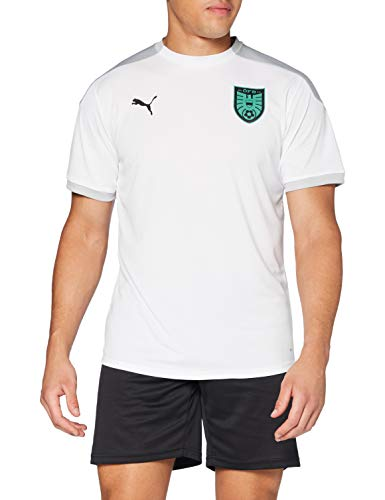 PUMA Öfb Training Jersey Camiseta, Hombre, Puma White-High Rise, M