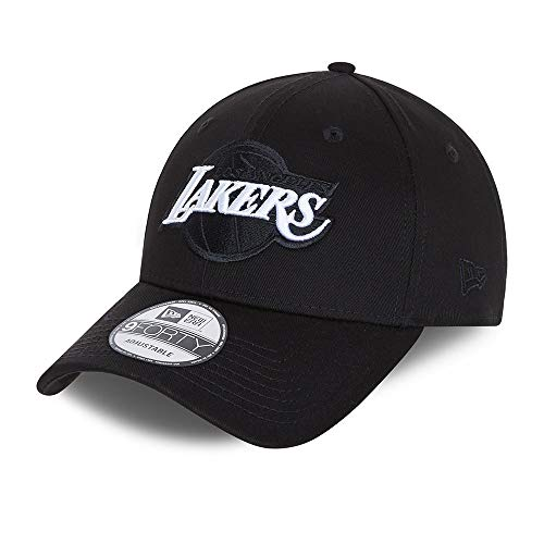 New Era Los Angeles Lakers 9forty Snapback Cap Verstellbar Kappe Black Base Schwarz - One-Size