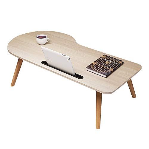 Axdwfd Table pliante portative pour ordinateur portable, très appropriée pour salon extérieur chambre 90 * 48 * 34 cm (couleur naturelle)