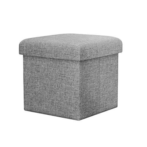 WEIZI Simple imitation linen storage stool Folding storage stool Shoe change stool