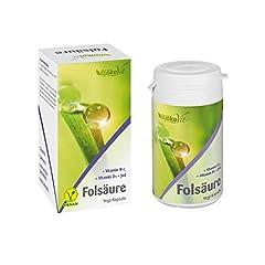 Tabletki kwasu foliowego (Kapsułki) przez BjökoVit | Składniki odżywcze dla płodności, ciąża & Karmienie piersią | Wegańskie i bez dodatków, 60 sztuk