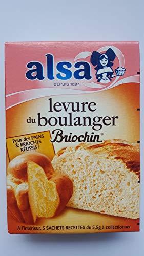 Alsa Levure du boulanger Briochin - Les 5 sachets, 28g