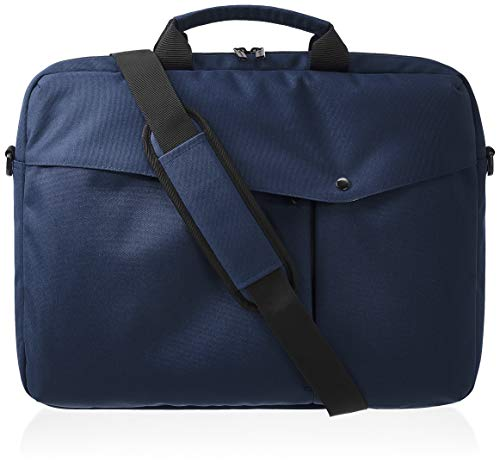 Amazon Basics, cartella da ufficio, per laptop da 43,18, blu navy