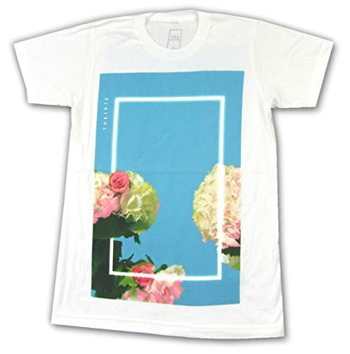 The 1975 Blue Floral Fall Tour 2016 White T Shirt (S)