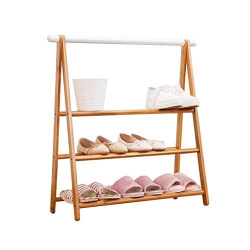 JF-XUAN Los estantes zapatero 3 Nivel Pasillo de la sala de almacenamiento Organizador versátiles Colgando bastidor soporte del zapato de paraguas