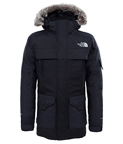 The North Face MC Murdo 2 - Parka de Plumas para Hombre, Hombre, Color TNF Black/High Rise Grey, tamaño Large