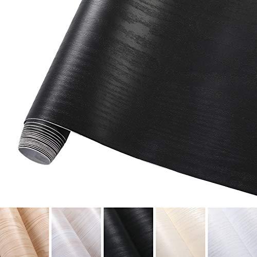 KINLO 5x0.61M filmmeubilair Zwart zelfklevende film gemaakt van hoogwaardige PVC-decoratieve film voor kastmeubelstickers versier het meubilair eenvoudig met meubelstickers