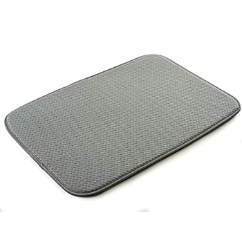 Norpro dish drying mat 18  x 12  Gray